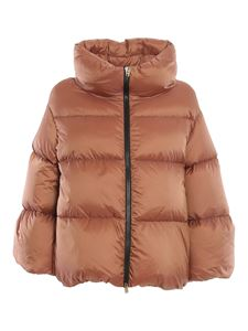 Herno - Bryce puffer cape in pink