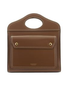 Burberry - Leather bag in brown