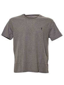 POLO Ralph Lauren - Logo embroidery t-shirt in grey