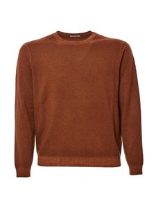 malo - Wool lightweight sweater in camel color