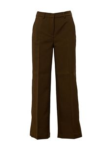 Department 5 - Ironed crease palazzo pants in green