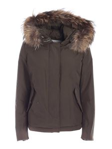 Woolrich - Artic Racoon down jacket in military green