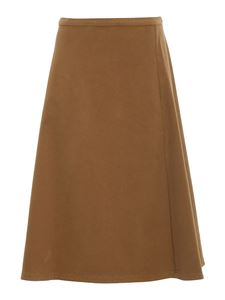 Aspesi - Stretch cotton skirt in camel color