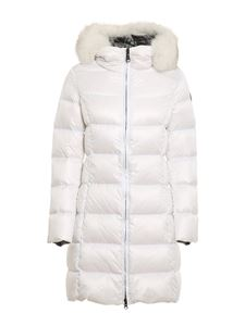 Colmar Originals - Quilted long down jacket in white