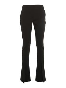 Off-White - Tailored wool flare trousers in black