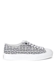 Givenchy - Sneaker City in jacquard 4G bianche
