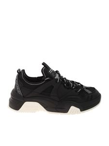 Versace Jeans Couture - Sneakers nere bianche con maxi suola
