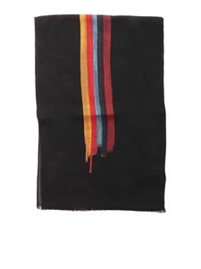 Paul Smith - Painted Artist scarf in black