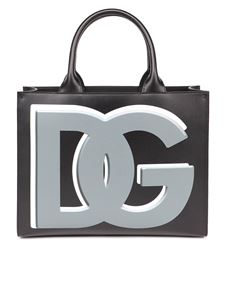 Dolce & Gabbana - DG Daily L leather shopping bag in black