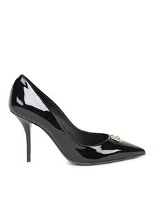 Dolce & Gabbana - Patent leather pointy toe pumps in black