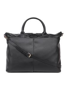TWINSET - Zip-fastening faux leather tote in black