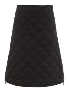 Moncler - Quilted A-line skirt in black