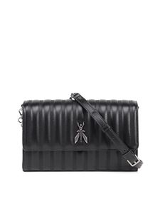 Patrizia Pepe - Quilted leather crossbody bag in black