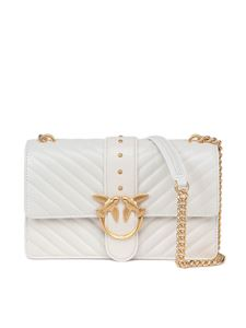 Pinko - Love classic icon v quilt 3 cl bag in white