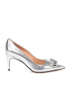 Sergio Rossi - Crystal detailed pumps in silver color