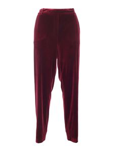 Paolo Fiorillo - Straight pants in burgundy