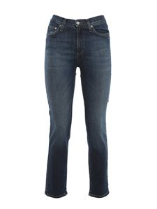 Roy Rogers's - Stretch denim straight leg jeans in blue