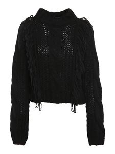 Roy Rogers's - Cable-knit mohair blend jumper in black