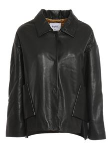 S.W.O.R.D. - Leather shirt jacket in black