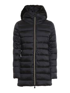Save The Duck - Matilda hooded quilted coat in black
