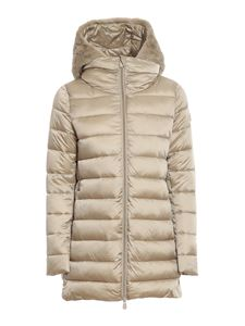 Save The Duck - Matilda hooded quilted coat in beige