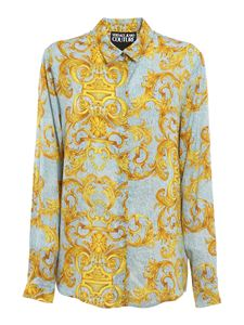 Versace Jeans Couture - Baroque patterned shirt in light blue