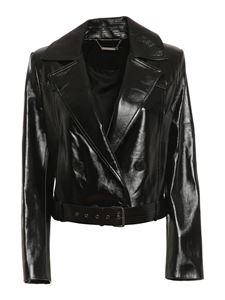 Givenchy - Leather blazer in black