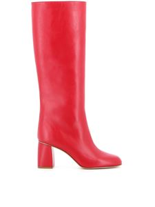 Red Valentino - Leather boots in red