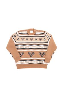Burberry Kids - Gerald sweater in camel color