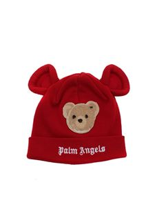 Palm Angels Kids - Berretto Bear rosso