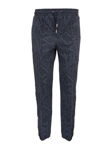 Etro - Joggers in stampa Paisley blu