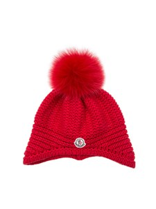 Moncler Jr - Cap with pompon