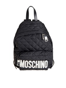 Moschino - Black backpack with mirror effect logo