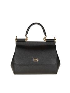 Dolce & Gabbana - Black Sicily Dauphine leather bag