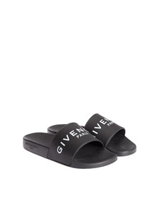 Givenchy - Rubber slides with logo