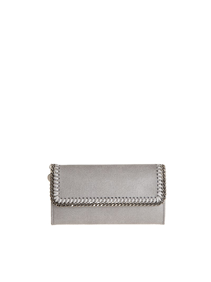Stella Mccartney Falabella Continental Wallet In Grey