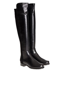 Stuart Weitzman - Leather and fabric boots
