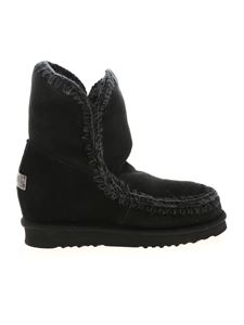 Mou - Eskimo 18 Inner Wedge Short ankle boots in black