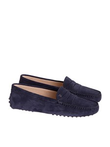 Tod's - Mocassino in suede blu Tod's