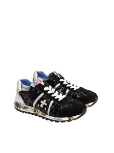 "Premiata Will Be - Black ""Lucy"" sneakers with sequins"