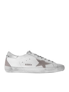 Golden Goose - Silver Metal Lettering Superstar sneakers in white