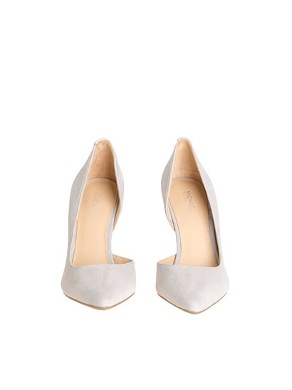 Suede pointy pumps Color: pearly gray Rear metal detail Rubber sole  - Michael Kors - Nathalie pumps