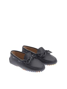 Tod'S Junior - Hammered leather moccasins