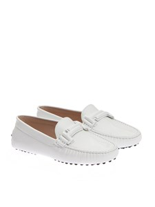 Tod's - White patent leather moccasins