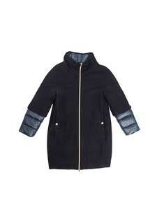 Herno - Padded sleeves coat in blue