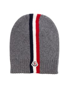Moncler Jr - Grey virgin wool cap