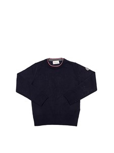 Moncler Jr - Blue virgin wool pullover