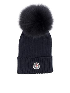 Moncler Jr - Blue virgin wool cap