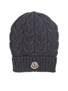 Moncler Jr - Grey tricot knitting cap