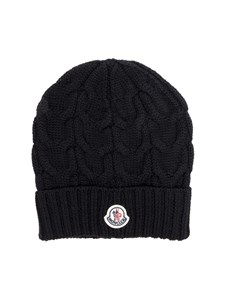Moncler Jr - Black tricot knitting cap
